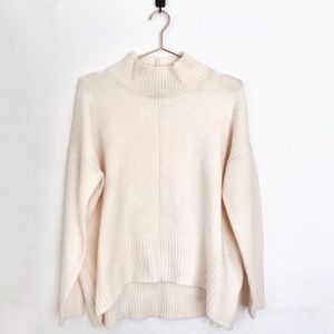 Mock neck slouchy sweater